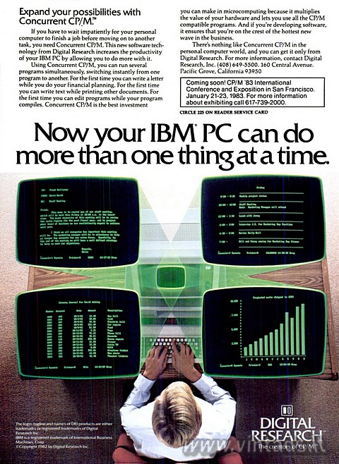 Now your IBM PC can do more than one thing at a time.