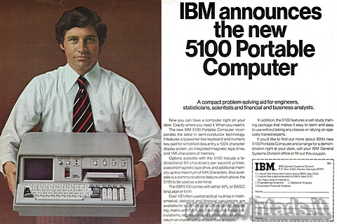 IBM announces the new 5100 portable computer.