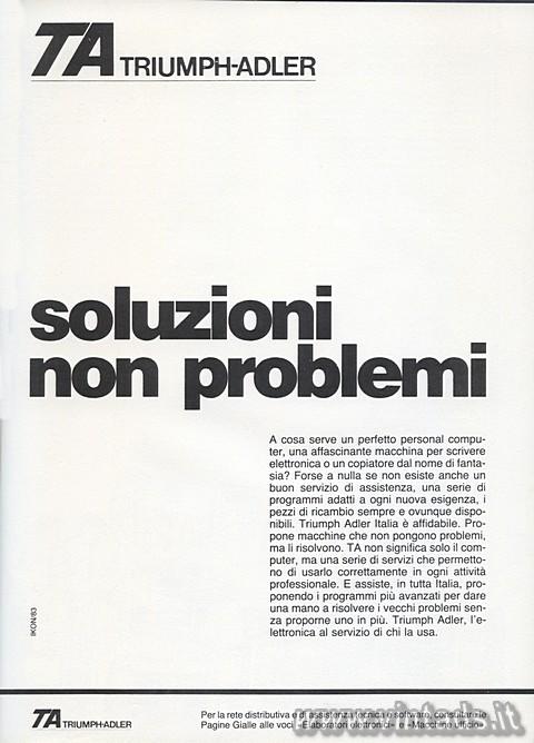 Soluzioni, non problemi