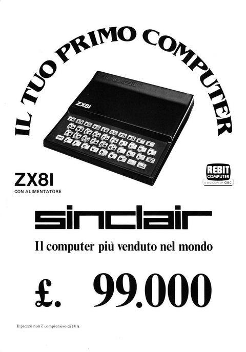 IL TUO PRIMO COMPUTER ZX81