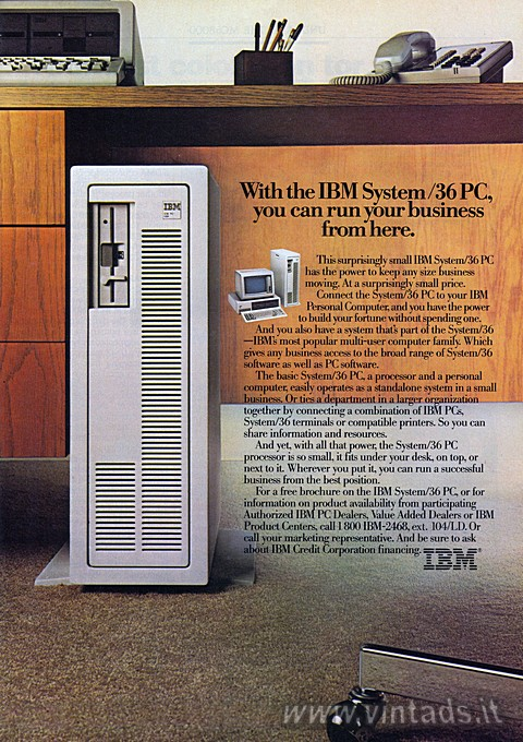 With the IBM System /36 PC,