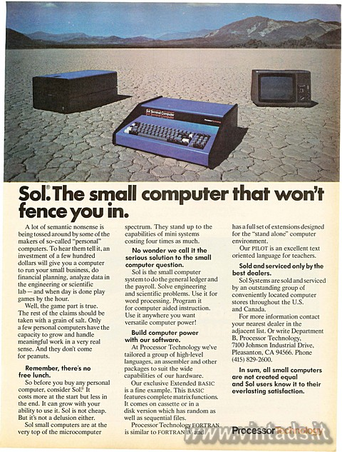 Sol: The small computer that won't fence you i