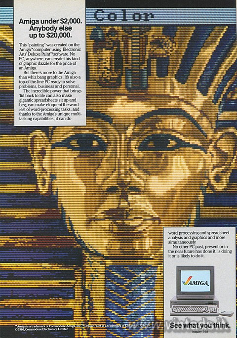 Amiga under $2,000. Anybody else up to $20,000.