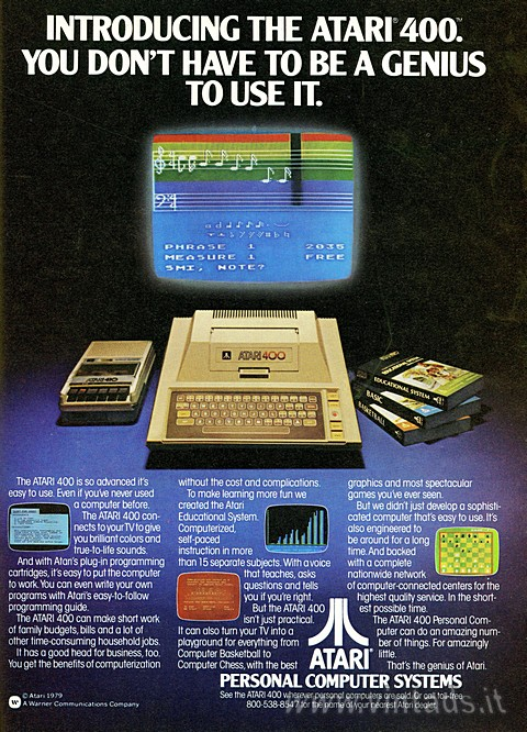 INTRODUCING THE ATARI 400.