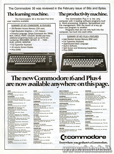 The new Commodore 16 and Plus4