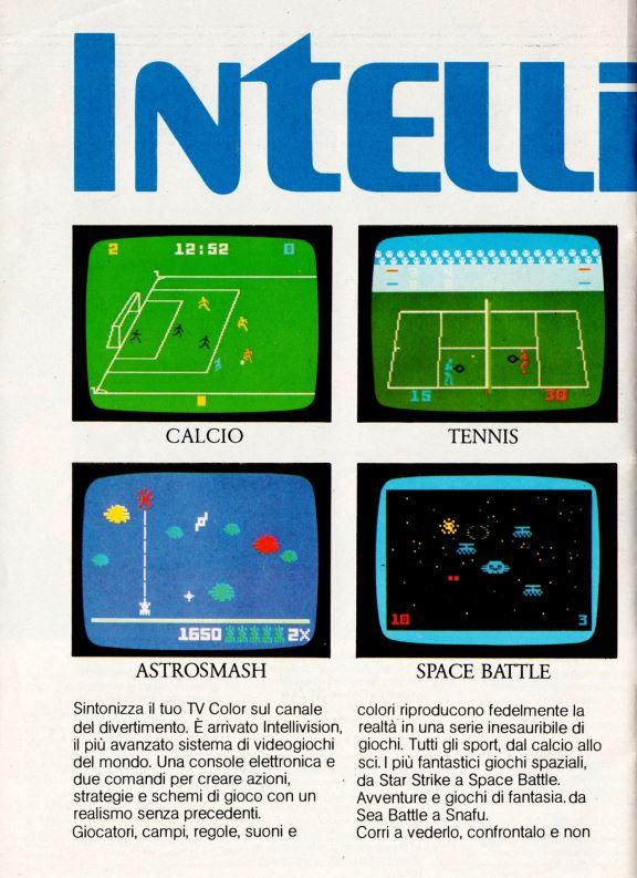 MATTEL INTELLIVISION 1982