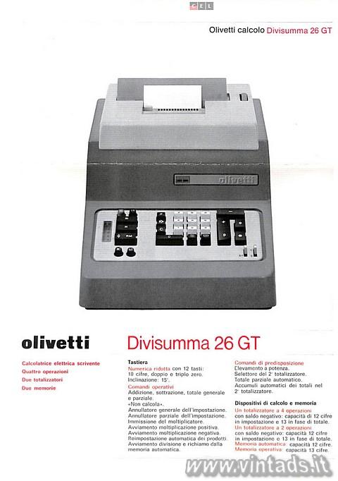 Olivetti divisumma 26 GT