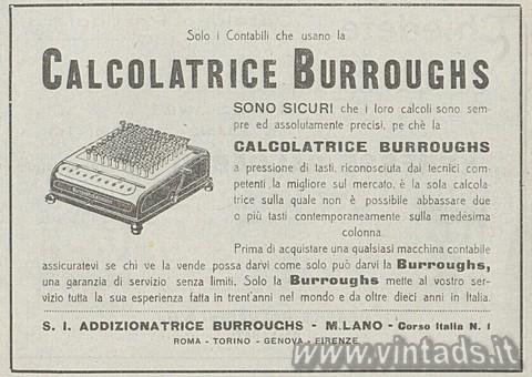 I contabili che usano la Burroughs...