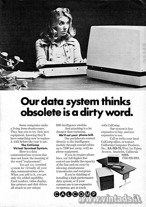 Our data system thinks obsolete is a dirty word.