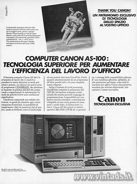 COMPUTER CANON AS-100: