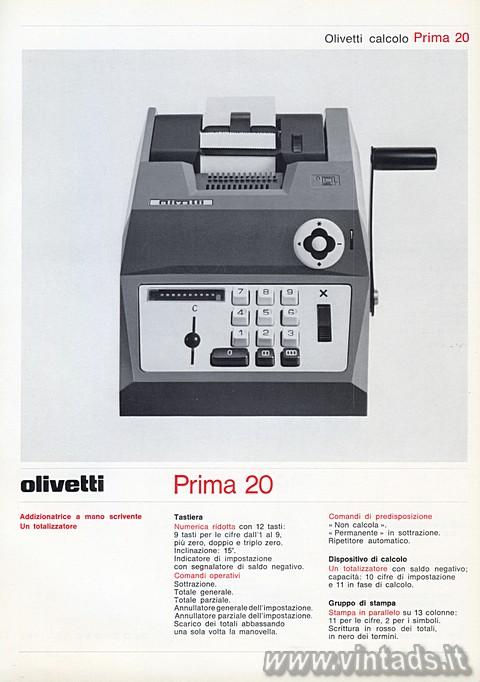 Catalogo Olivetti 1971