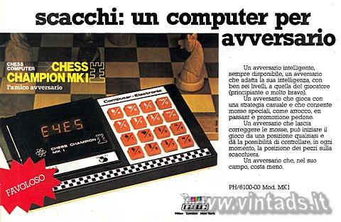 scacchi: un computer per avversario