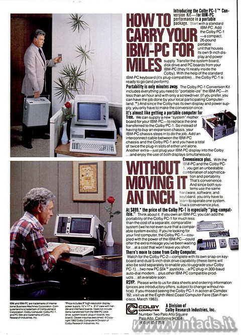 How to carry your ibm-pc for miles without moving