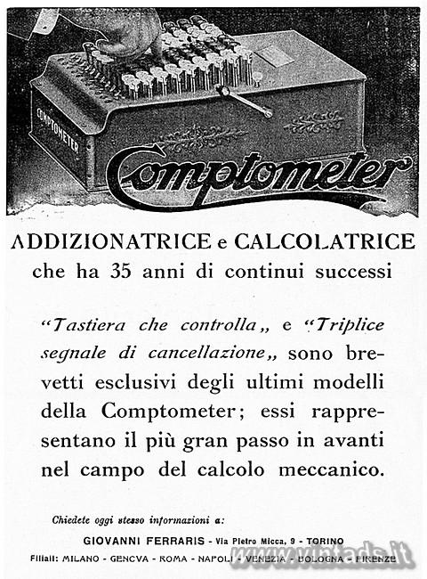 COMPTOMETER addizionatrice e calcolatrice