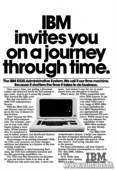 IBM invites you on a journey through time. 
