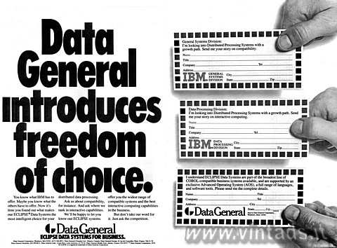 Data General introduces freedom of choice.