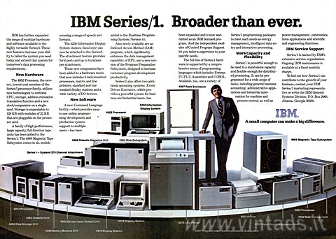 IBM Series/1. Broader than ever.