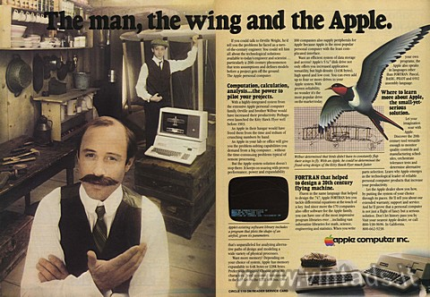 The man, the wing and the Apple.