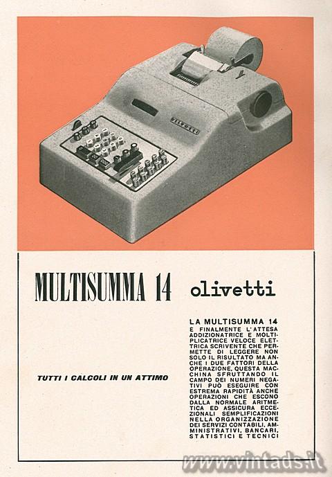 LA multisumma 14 Olivetti