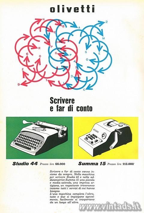 scrivere e fare di conto con Olivetti