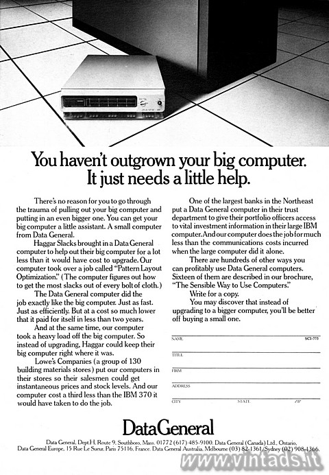 You haven't outgrown your big computer.