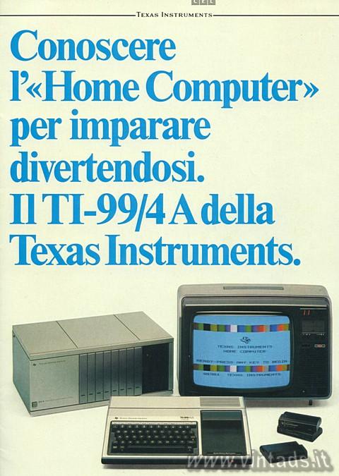 Il TI-99/4A della Texas Instruments