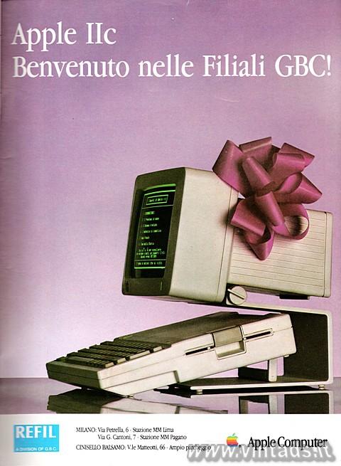 Apple IIc, benvenuto nelle filiali GBC