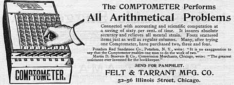 The COMPTOMETER Performs All Arithmetical Problems