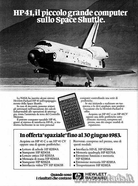 HP41, Il computer sullo Space Shuttle