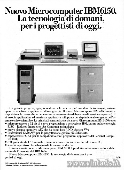 Nuovo Microcomputer IBM 6150.