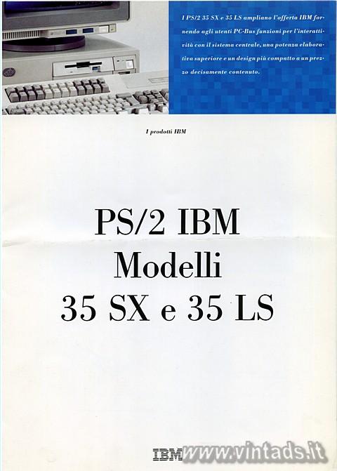 PS/2 IBM Modelli 35 SX e 35 LS