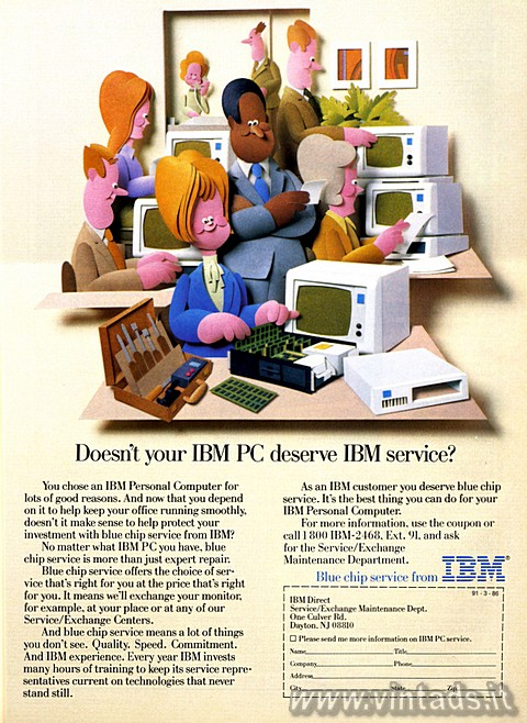 Doesn't your IBM PC deserve IBM service?