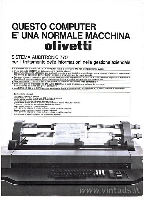 Questo computer è una macchina Olivetti