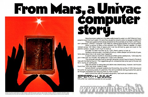 From Mars, a Univac computer story
