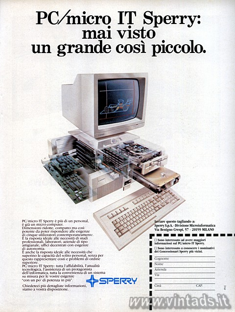 PC/micro IT Sperry: mai visto un grande così picco