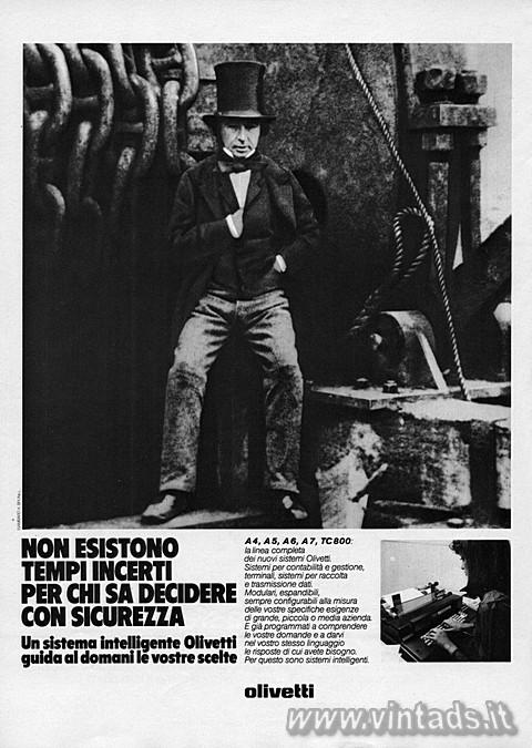Olivetti: NON ESISTONO TEMPI INCERTI