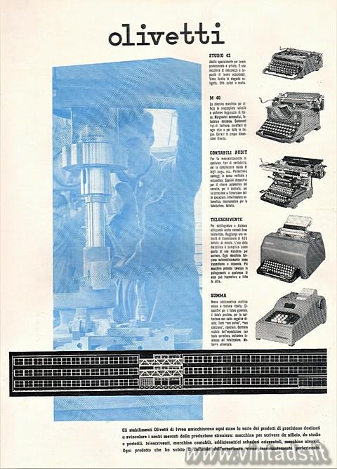 Olivetti produzione del 1946