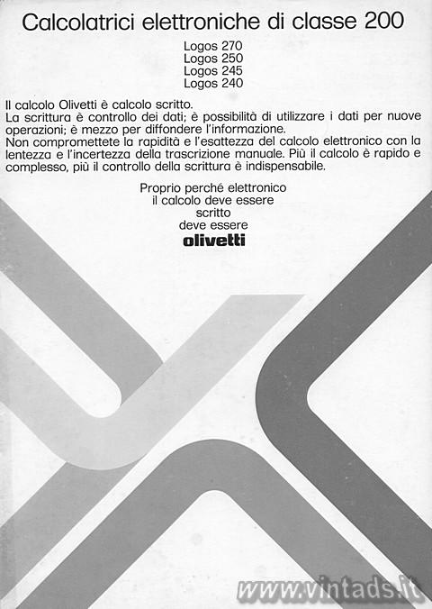 Calcolatrici Olivetti classe 200