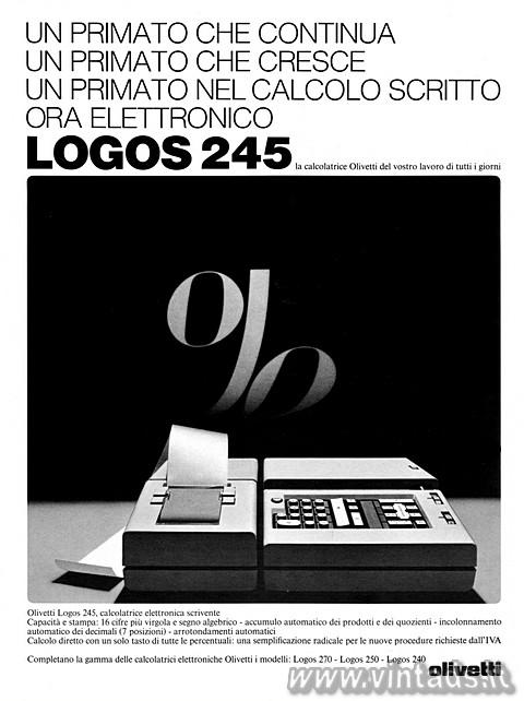 LOGOS 245la calcolatrice Olivetti