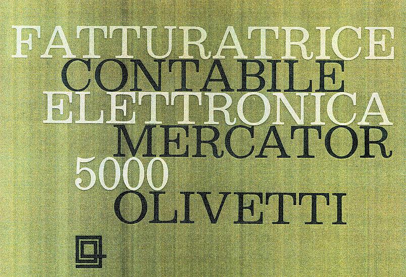 Fatturatrice Mercator 5000 Olivetti