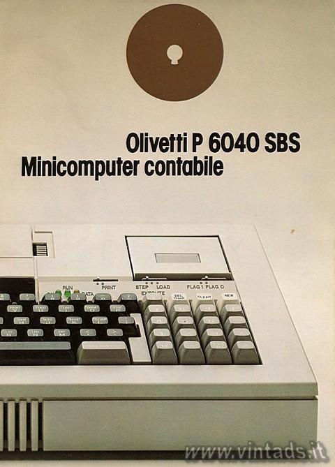 olivetti P 6040 SBS minicomputer contabile