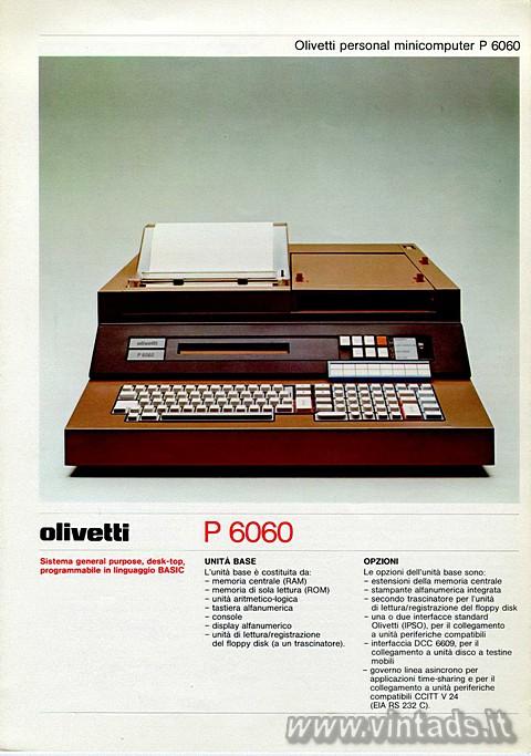 Olivetti personal minicomputer P 6060