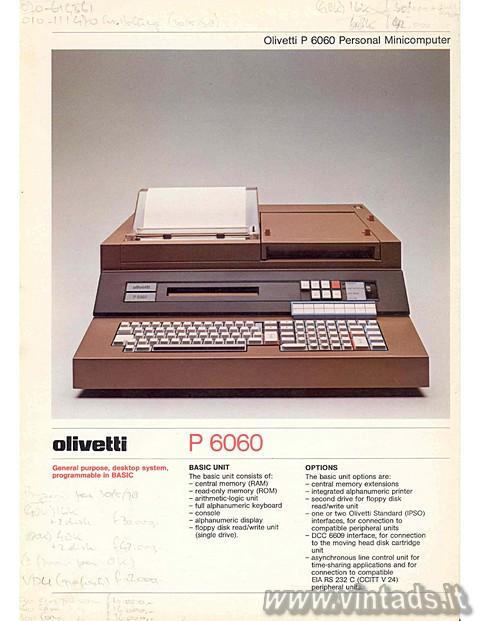 Olivetti P 6060 Personal Minicomputer