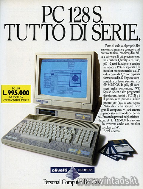 PC 128 S. TUTTO DI SERIE.