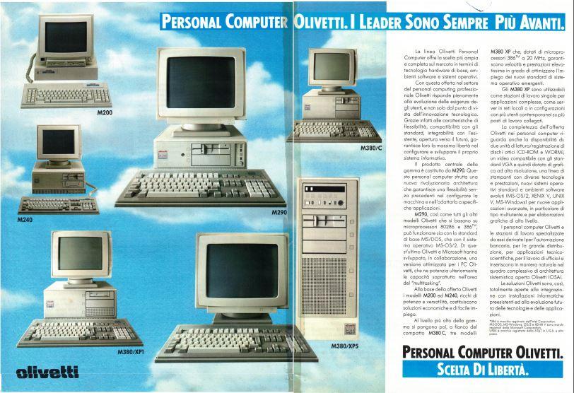 Personal Computer Olivetti. Scelta di Libertà