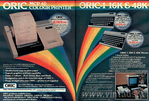 Oric-1 16K 48K MCP 40 printer