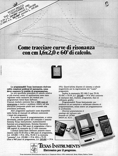 TEXAS INSTRUMENTS. Elettronica per il progresso.