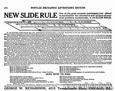 NEW SLIDE RULE