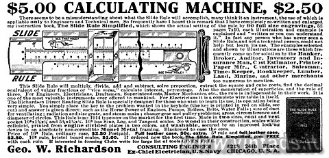 $5.00 CALCULATING MACHINE, $2.50