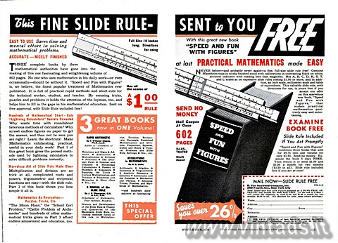 THIS FINE SLIDE RULE sent to you FREE